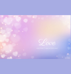 heart bokeh frame background valentine love vector image