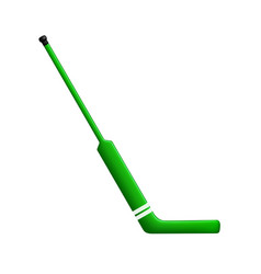 Hockey stick for goalie in green design vector
