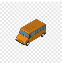 Isolated bus isometric autobus element ca vector