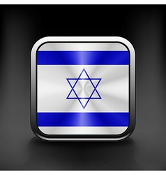Israel icon flag national travel icon country vector image