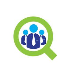 job search logo designs modern vector image