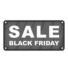 Label sale black friday icon vector