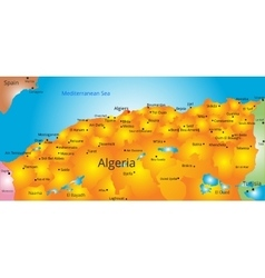 map of Algeria country vector image