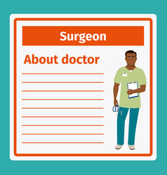 medical notes about surgeon vector image