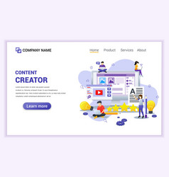 Modern flat design concept freelancer blogger vector