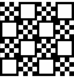 Monochrome checkered background with white squares vector