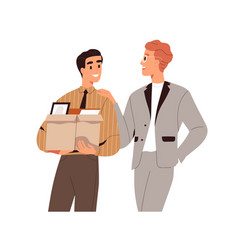 New job concept happy office worker starting vector