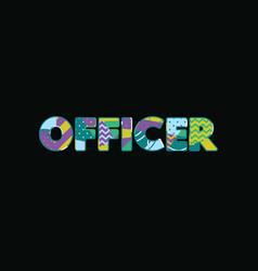 Officer concept word art vector