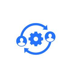 People interacting teamwork icon vector