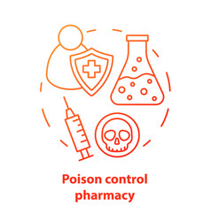 Pharmacy concept icon poisons control vector