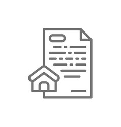 real estate loan mortgage line icon vector image