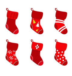 retro christmas socks vector image vector image