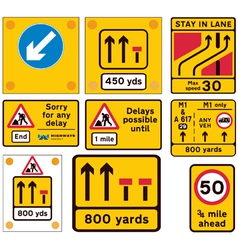 Road traffic work signs vector image