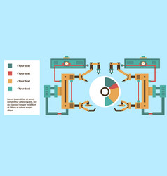 robotic system advanced technology information vector image