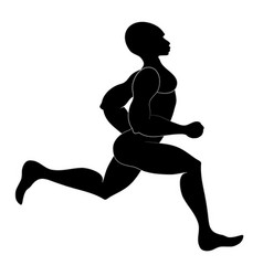Runner isolated silhouette vector