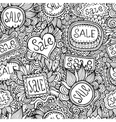 Sale Nature Labels seamless pattern vector image