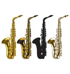 saxophones vector image