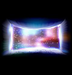 Screen led bright monitor club disco vector