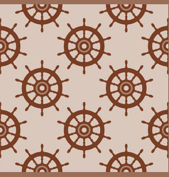 seamless background pattern with steering wheel vector image