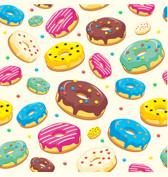 seamless pattern with bakery and patisserie vector image