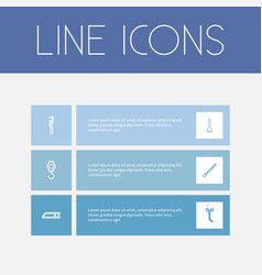 set of 6 editable apparatus outline icons vector image