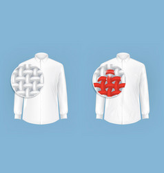 Set of of white shirts with vector