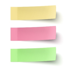 Set of yellow red and green sticky notes vector image