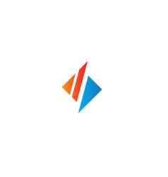 Shape square abstract company logo vector