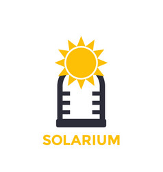 Solarium icon isolated on white vector
