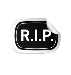 Sticker rip black vector