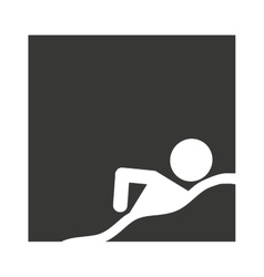 swimming person athlete isolated vector image