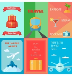 Travel Poster Set vector image