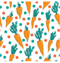 Vegetable pattern hand-drawn seamless pattern vector