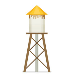 Water tower flat design vector