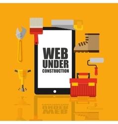 Web page under construction vector