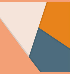 white beige orange and blue background overlap vector image