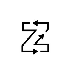 Z letter recycle logo icon vector