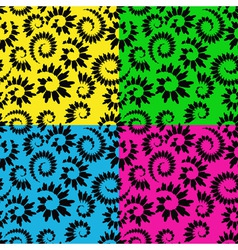 abstract seamless floral vector image