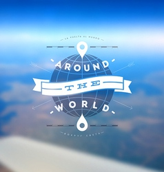 Aroun the world type design vector image