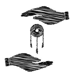 Dream catcher sign vector image vector image