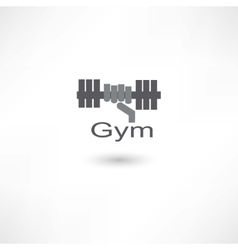 Fitness dumbbell vector image vector image