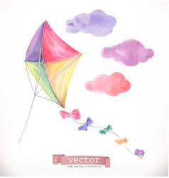 kite watercolor vector image vector image