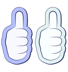 like the sticker fist thumb up thumb up symbol vector image