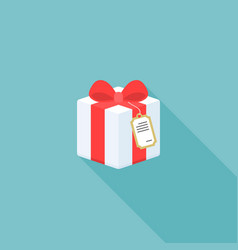 present box icon with tag vector image