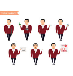 ready-to-use character set vector image vector image