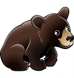 American black bear vector image vector image