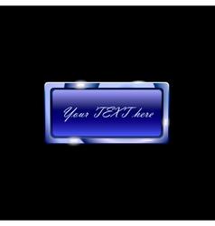 beuatiful blue banner vector image vector image