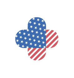decorative isolated logo of usa flag vector image vector image