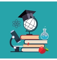 E-learning and online education vector image vector image