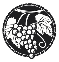 Grapes symbol vector image vector image